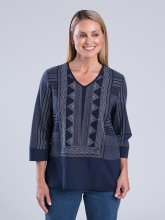 Laine 3/4 Sleeve Top