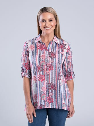 Azul 3/4 Sleeve Shirt