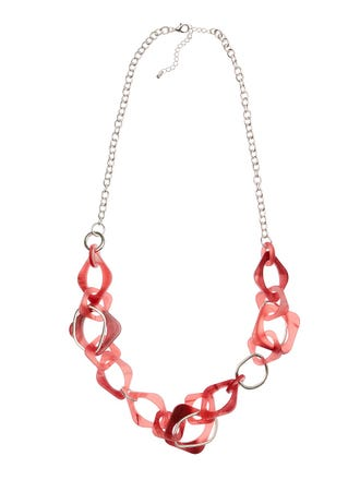 Sqare Resin Link Necklace